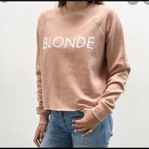 Brunette The Label  BLONDE CREW NUDE sweatshirt.